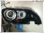 荣威350大灯改装4个双光透镜 4个LED宝马天使眼  氙气灯 LED...