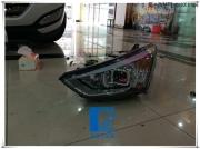 全新ix45胜达大灯改装Q5双光透镜 欧司朗D3S灯泡 法雷奥安定器