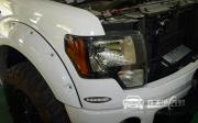 武汉福特猛禽F150大灯改装全新海拉5透镜 全车改装氙气灯