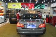 奔驰E260汽车贴膜 芜湖龙膜授权店无尘车间专业施工