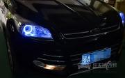 武汉福特翼虎大灯改装海拉5透镜 全新飞利浦D1S灯泡 天使眼