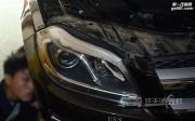 孝感奔驰GL350免开灯改装进口海拉5透镜 飞利浦XV D1S灯泡