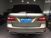 奔驰ML350改装大灯【四川车友】低配卤素升级高配氙气LED大灯