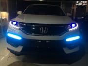 聊城灯光升级-本田XRV大灯改装-聊城三合改LED大灯-灯光改装