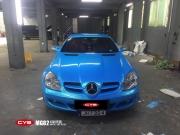 奔驰SLK350幻彩天蓝成都车身改色