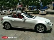 奔驰SLK200陶瓷白成都改色膜车身贴膜