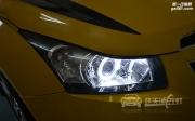 黄冈科鲁兹大灯改装全新海拉5透镜 全新飞利浦D1S 天使眼