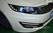 武汉起亚K5车灯改装原厂Q5透镜 全新飞利浦D1S LED恶魔眼