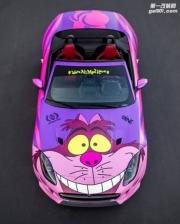 捷豹F-Type R敞篷车疯狂变身Cheshire猫
