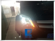 升级远道而来的奔驰GLK300 安装原车大灯 实现随.....