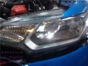 本田飞度升级Q5双光透镜 天使眼 双色LED
