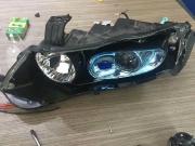 本田老款奥德赛大灯升级改装GTR海拉5双光透镜