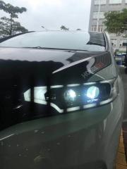 中山专业改灯 小榄专业汽车灯光升级飞度更换氙气大灯总成