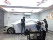 奔驰B200改色案例-白变金
