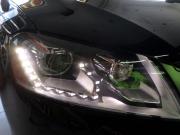 迈腾B7L原车氙气灯法雷奥透镜升级进口海拉5透镜轻松过年检