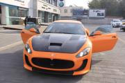 玛莎拉蒂全车亮光淡橙车身改色案例