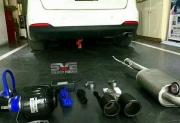 起亚K3高配升级尾段可变阀门排气搭配碳纤尾喉