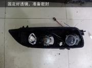 常州马自达6改灯  改装进口海拉5透镜  国产一线品牌灯泡