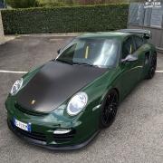 英国赛车法拉利F40改装复古绿色外观