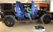吉普牧马人音响升级改装德国ETON和美国霸克汽车音响