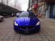 玛莎拉蒂总裁全车电镀钴蓝车身改色案例