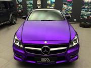 奔驰CLS300电镀冰紫车身改色