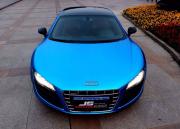 奥迪R8亚面电镀蓝车身改色
