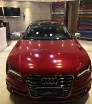 奥迪A7亮光暗红车身改色