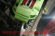 本田杰德1.8升级大四刹车安装实例