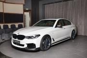 白色宝马M550i 改装M Performance车身改装套件