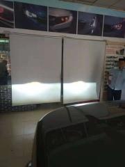 郑州亮晶晶改灯路虎发现4车灯不亮改装LED双光透镜