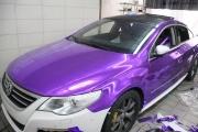 大众CC车身贴电镀紫改色膜