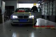 南京老款宝马325改装 Q5透镜 LED天使眼
