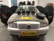 汕头星悦汽车音响大众宝来改装美国哈曼JBL音响特惠套餐搭配美国CDT备胎低音炮
