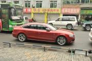 石榴红奥迪A5改装RS5轮毂美图欣赏