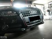 黑色奥迪A5改装外观+排气+避震+轮毂