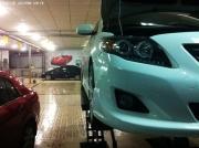 卡罗拉改装熏黑灯膜+小包围+行车记录仪+轮毂+车贴作业
