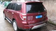 2.5XS红色森林人内饰碳纤贴纸+改装升级轮毂轮胎