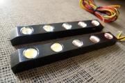 黑色英朗GT改装加装LED日间行车灯
