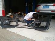 奥迪Q5改装升级sline款车身套件作业