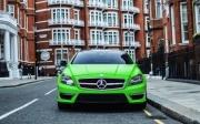 这个夏天流行苹果绿 奔驰CLS AMG改装车!