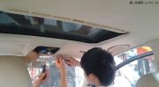 大众帕萨特汽车内饰改装顶棚翻新